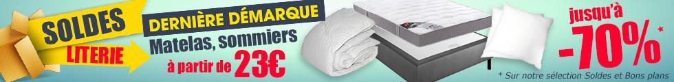 prix sold s dans le grand magasin de la literie. Black Bedroom Furniture Sets. Home Design Ideas